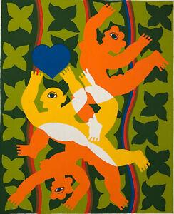 Herbert-Schneider-Grosse-Orig-Lithographie-1960-70er-Probe-75x53cm-nicht-signiert