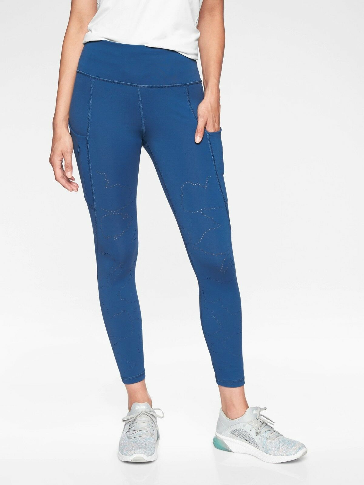 NWOT Athleta All In Reaction 7 8 Tight, Atlantis Blau Größe M        353547 N0324