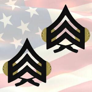 U-S-M-C-SERGEANT-CHEVRONS-PAIR-SUBDUED-BLACK-GENUINE-COMBAT-OR-5