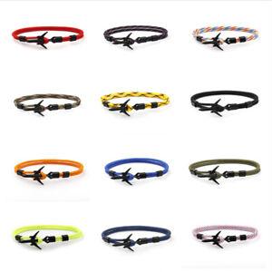 Plane-Anchor-Bracelets-Men-Charm-Rope-550-Paracord-Bracelet-Jewelry-Sport-Hooks