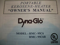 Dyna Glo Rmc-95-c6 Owners/parts Manual