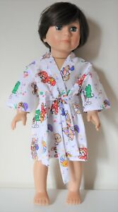 Fits-American-Girl-Dolls-Our-Generation-18-034-Boy-Doll-Clothes-Robe-Dressing-Gown