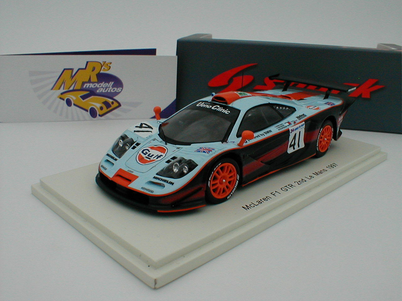 SPARK s5083-McLaren f1 GTR 24h. le Mans 1997 no. 41 Team Gulf Racing 1 43 NUOVO