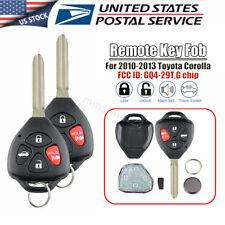 OEM Genuine 2010-2013 Fits for Toyota Corolla Remote Key Fob 4B GQ4-29T G Chip