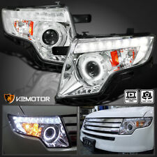 Ford Edge Euro Clear Halo Led Drl Projector Headlights Lamps
