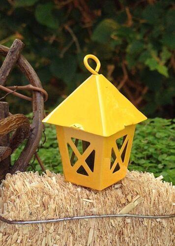 Miniature Dollhouse FAIRY GARDEN Accessories ~ Mini Metal Yellow Lantern ~ NEW