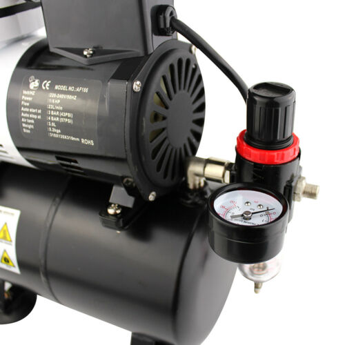 OPHIR Air Compressor with Tank Fan for Airbrush Kit 3 Bar to 4 Bar