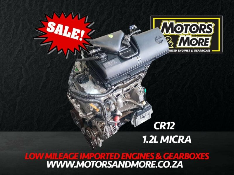 Nissan Micra CR12DE 1.2 Engine For Sale No Trade in Needed