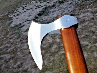 RAZOR SHARP MDM HAND FORGED TOMAHAWK HATCHET VIKING BEARDED AXE COMBAT ZOMBIE