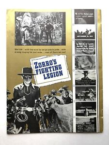 1940 Zorros Fighting Legion Book Serial W Pictures And Chapter