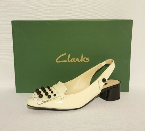 da Scarpe vernice con Swixties Clarks in cinturino bianca posteriore donna wSqp5FxEB