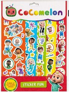 Cocomelon conjunto 5 hojas de carácter Reutilizable adhesivo diversión para los niños de 3312/Facultad