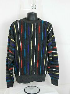 VTG-Alan-Stuart-Sweater-SZ-L-bunte-geometrische-Biggie-Bill-Cosby