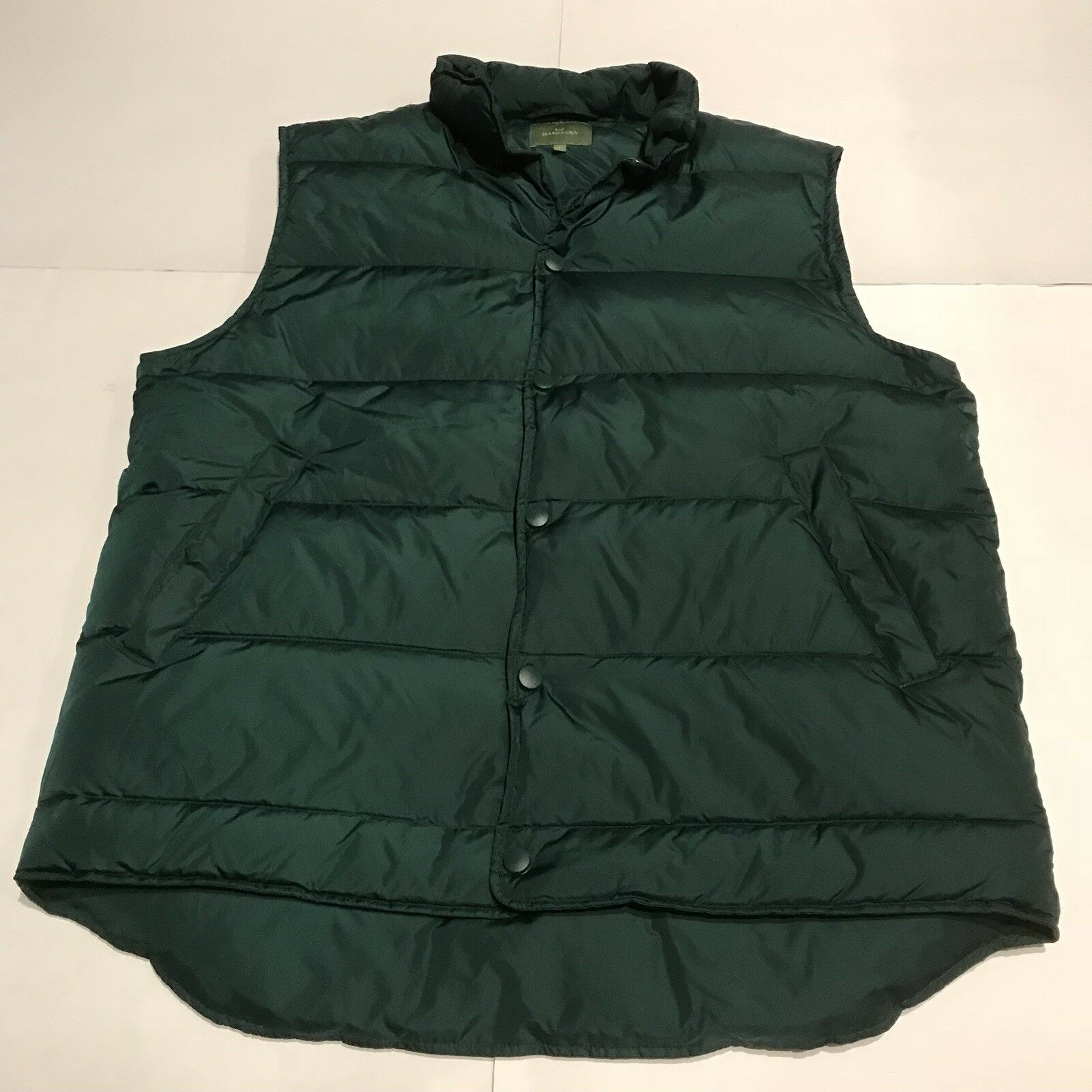 Sid Mashburn Down Sport Quilted Down Puffer Vest Spruce Green Sz Large NEW