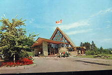 Baddeck Cape Breton Nova Scotia Bell Museum Canada's NEW Flag Postcard 1965