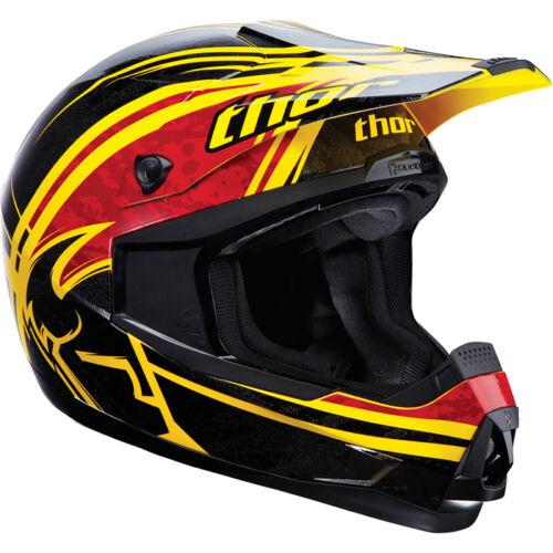 THOR S13 QUADRANT HELMET SPLATTER YELLOW MX MOTOCROSS ENDURO QUAD BMX ADULT