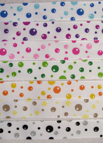 Coloris au choix RUBAN GROS GRAIN BULLES RONDS ** 16 mm ** au mètre