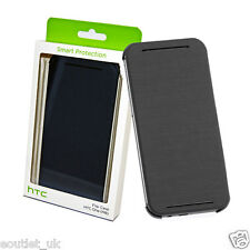 Genuine Official HTC HC V941 Flip Case Cover for HTC One M8 2014 - Grey NEW