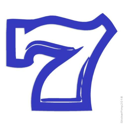 Size #4031 Lucky 7 Seven Decal Sticker Choose Color