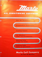 MARLO COIL Company Air Conditioning A/C Catalog ASBESTOS Mastic Heating 1950's