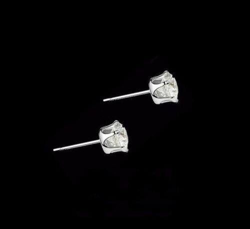 Ronaldo 8mm 18ct Diamante Cristal Enchapados En Oro Blanco Pendientes con Pasador Para Hombre//Niño