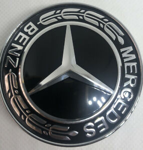4x Mercedes Black Alloy Wheel Centre Hub Caps 60mm A B C E S M Class ML CLA GLA