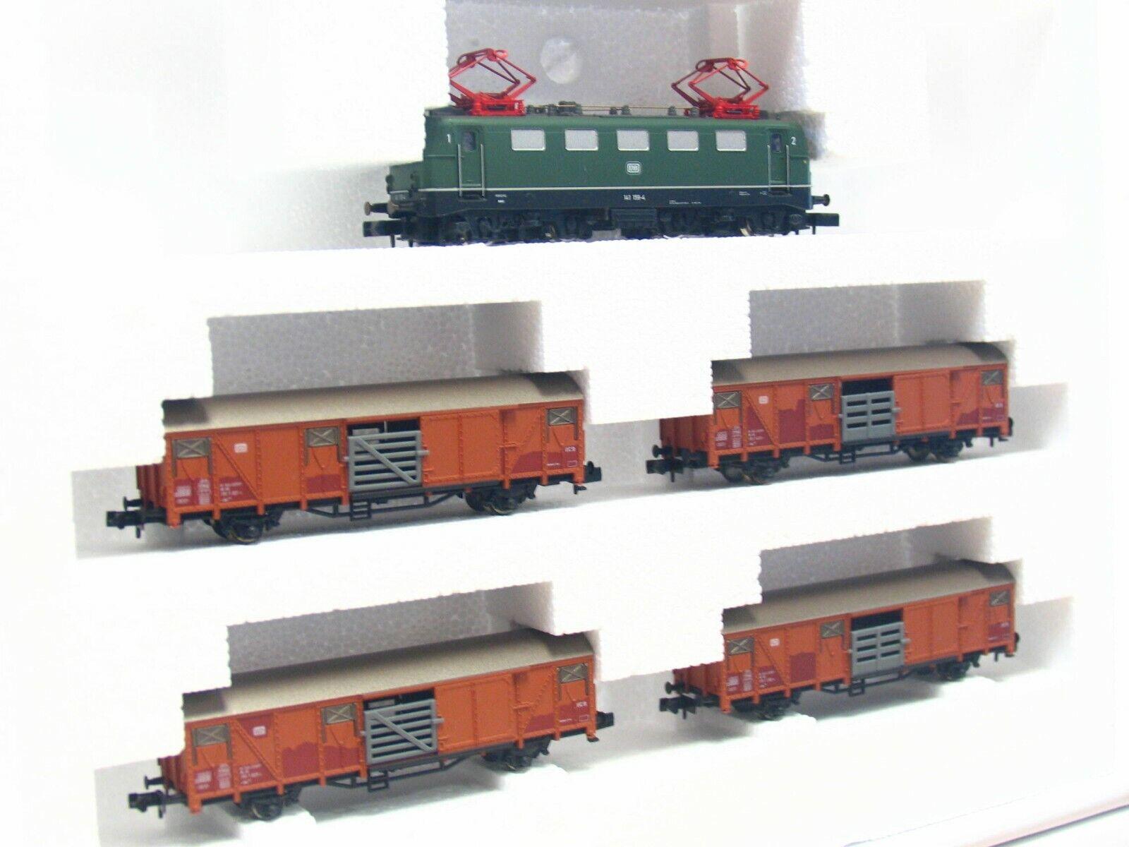 Arnold N 0417 5er Set Viehzug m. m. m. E-Lok BR 141 159-4 DB OVP (RB7537) a63c41