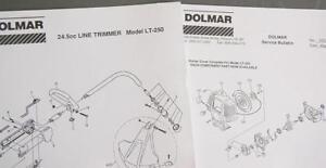 1994-Dolmar-24-5cc-Line-Trimmer-Illust-Parts-List-Model-LT-250-Plus-SVC-Bulletin