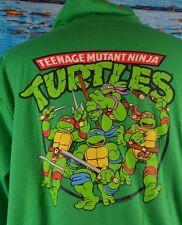 Teenage Mutant Ninja Turtles Full Zip Sweater Size Medium Cotton Blend Very Cool