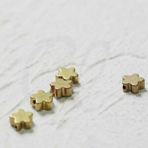 Triangle Tube 9x4mm 20 Pieces Solid Raw Brass Spacers CW-4389C