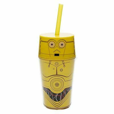 Zak Designs Star Wars™ A New Hope C3PO Double Wall 14 oz Iconic Straw Tumbler