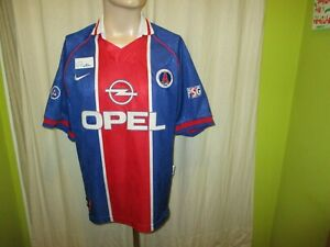 Paris-St-Germain-Original-Nike-MAISON-EUROPE-CUP-WINNER-maillot-1996-97-034-Opel-034-Taille-L