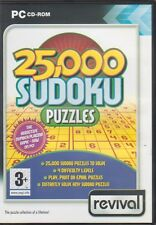 25000 Su Doku puzzles PC CD-ROM game - 4 difficulty levels