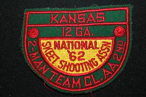 Vintage-1962-Kansas-Skeet-Tiro-Toppa-12-7cm-BY-10-2cm