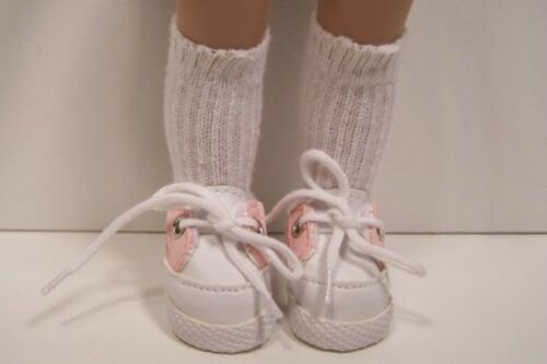 "White w//LT PINK Sport Tennis Doll Shoes For 10/"" Ann Estelle Sophie Patsy Debs"