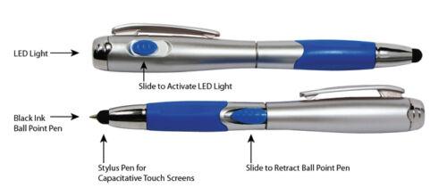 LED Flashlight iPad 2pc 3-in-1 Capacitive Touch Screen Stylus Ballpoint Pen