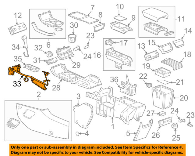 gmc acadia center console wiring diagram starting know about clean up boat console wiring gmc gm oem 2014 acadia center console wire harness 23155255 ebay rh ebay com