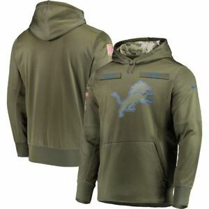 2018 Detroit Lions Mens NFL Nike Salute to Service Hoodie Sweatshirt ... 9e8e45e2c