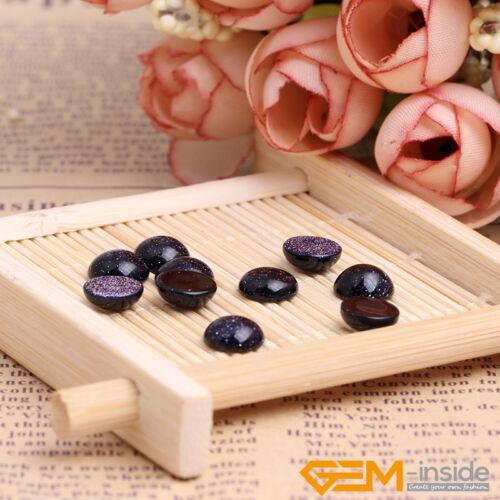Blue Sandstone Gemstone CAB Cabochon Loose DIY Beads For Jewelry Making 5 Pcs YB