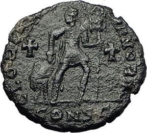 GRATIAN-367AD-Very-RARE-Ancient-Roman-Coin-Chi-Rho-Labarum-amp-Crosses-i59358