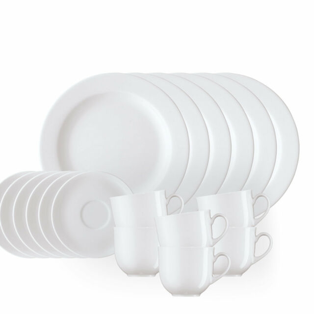 Kaffeeset 18-tlg. - Arzberg Form 1382 - weiß - Porzellan hochwertig 22 cm Teller