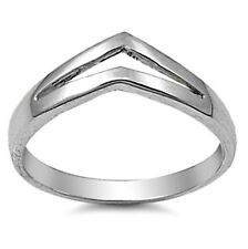 .925 Sterling Silver Ring size 4 Chevron Midi Knuckle Ladies Womens Kids p90
