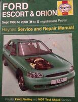 FORD ESCORT ORION HAYNES SERVICE & REPAIR MANUAL 1737
