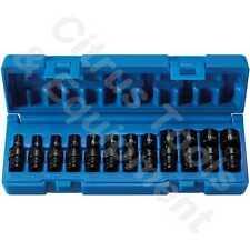"Grey Pneumatic 9712UM 1/4"" Dr 12 Pc 6 Pt Shallow Metric Universal Impact Sockets"