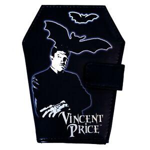 Kreepsville 666 Gothic Horror Punk Vincent Price Vampire Bat Black Coffin Wallet