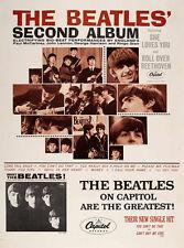 "The Beatles Second Album Promotional Poster Replica 14 x 11"" Photo Print"