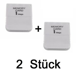 2x-1MB-Memory-Card-PS1-PlayStation-1-Speicherkarte-PS-One-PSX-1-MB-Play-Station