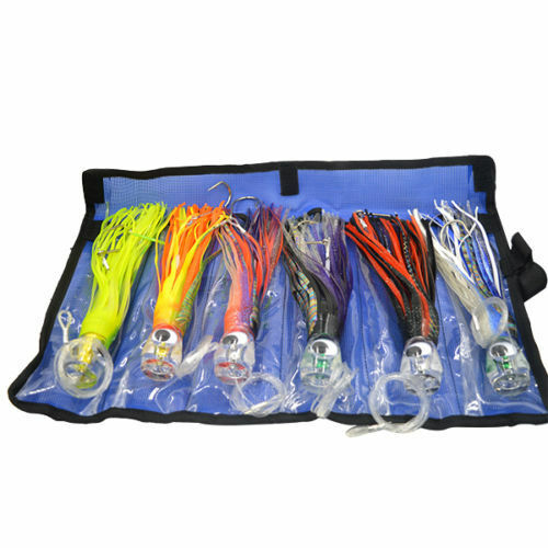 Game Fishing Trolling Lures Rigged Kit 6  Skirted Marlin Tuna Kingfish Wahoo Rig