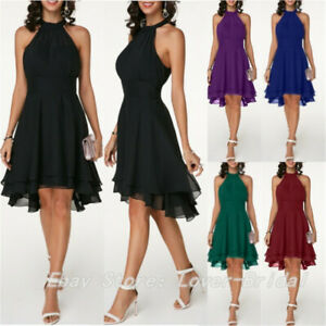 Women-Short-Evening-Formal-Party-Dresses-Prom-Ball-Gowns-Bridesmaid-Chiffon