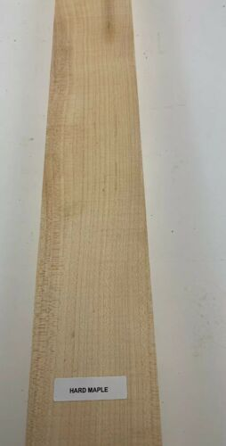 "Hard Maple  Thin Stock Lumber Boards Wood Crafts 3//4/"" x 3/"" x 24/"" Beautiful"
